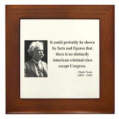 Mark Twain 16 Framed Tile