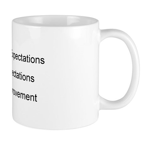Meets Expectations Mug and Pencil Holder