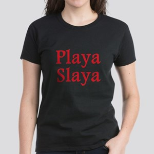 Playa Slaya red Women's Dark T-Shirt