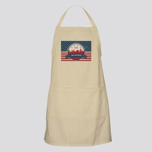 Tulsa Oklahoma Retro Skyline Light Apron