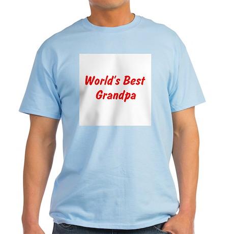 Worlds Best Grandpa Light T-Shirt