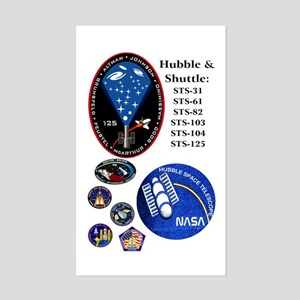 Hubble Composite Rectangle Sticker