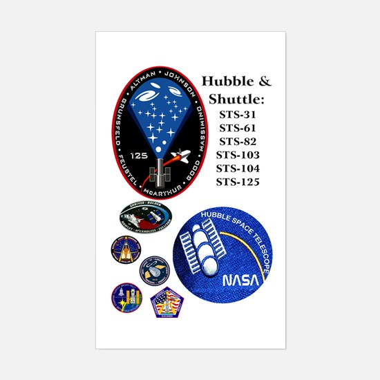 Hubble Composite Rectangle Decal