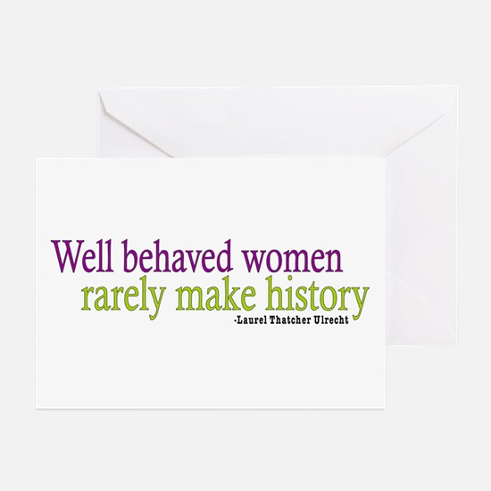 Well Behaved Women Greeting Cards (Pk of 20)