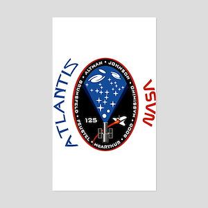 Atlantis STS 125 Rectangle Sticker