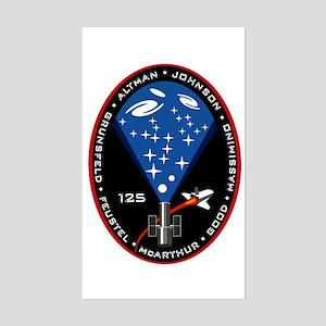 STS 125 Atlantis Rectangle Sticker
