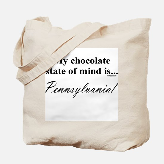 My chocolate state of mind is Tote Bag