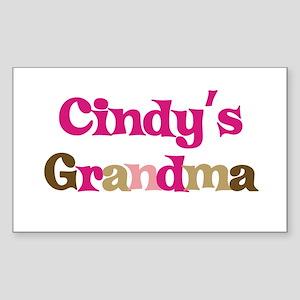 Cindy's Grandma Rectangle Sticker