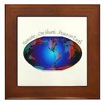 Namaste, Peace on Earth Framed Tile