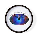 Namaste, Peace on Earth Wall Clock