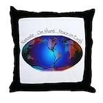 Namaste, Peace on Earth Throw Pillow