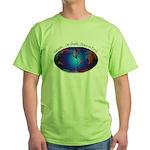 Namaste, Peace on Earth Green T-Shirt