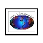 Namaste, Peace on Earth Framed Panel Print