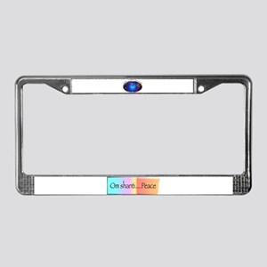 Namaste, Peace on Earth License Plate Frame