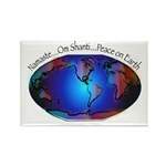 Namaste, Peace on Earth Rectangle Magnet (10 pack)