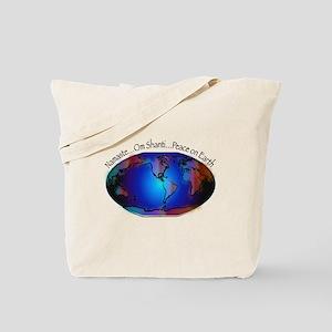 Namaste, Peace on Earth Tote Bag