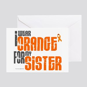 I Wear Orange For My Sister 6 Greeting Card