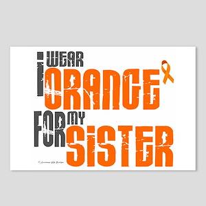 I Wear Orange For My Sister 6 Postcards (Package o