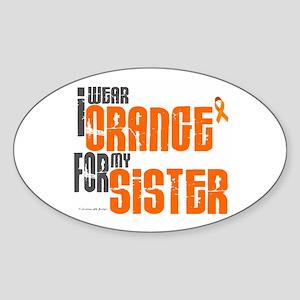 I Wear Orange For My Sister 6 Oval Sticker