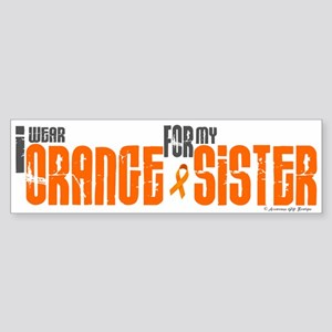 I Wear Orange For My Sister 6 Bumper Sticker