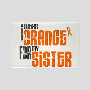 I Wear Orange For My Sister 6 Rectangle Magnet