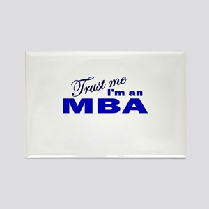 Trust Me I'm an MBA Rectangle Magnet