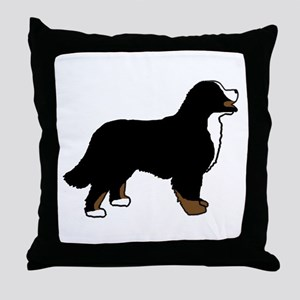 Tri Color Bernese Dog Throw Pillow