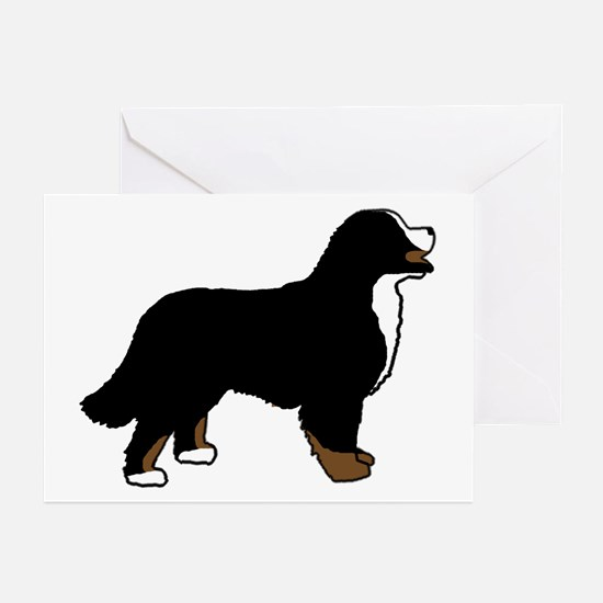 Tri Color Bernese Dog Greeting Cards (Pk of 10)