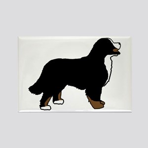 Tri Color Bernese Dog Rectangle Magnet