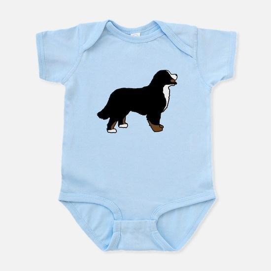 Tri Color Bernese Dog Infant Bodysuit