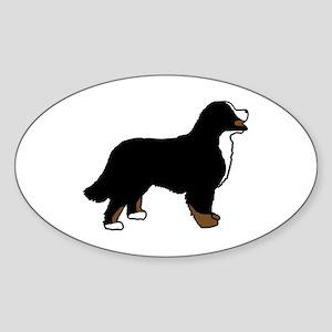 Tri Color Bernese Dog Sticker (Oval)