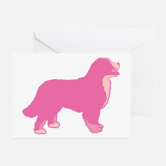 Tri Color Pink Bernese Greeting Cards (Pk of 10)