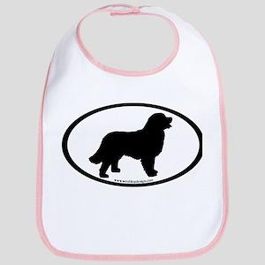 Bernese Mountain Dog Oval Bib