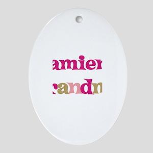 Damien's Grandma Oval Ornament
