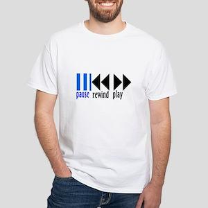 Pause him! White T-Shirt