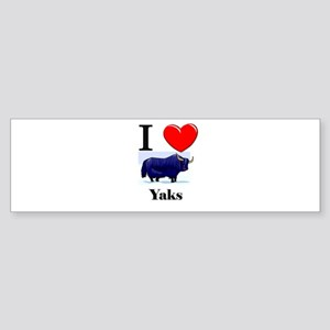 I Love Yaks Bumper Sticker