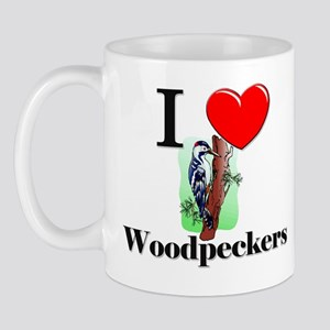 I Love Woodpeckers Mug