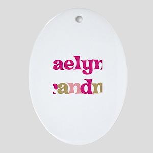 Kaelyn's Grandma Oval Ornament