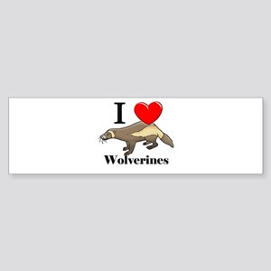 I Love Wolverines Bumper Sticker