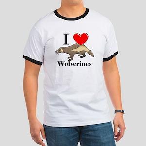 I Love Wolverines Ringer T
