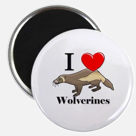 I Love Wolverines Magnet