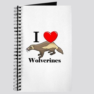 I Love Wolverines Journal