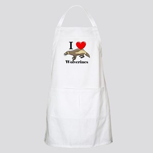 I Love Wolverines BBQ Apron