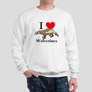 I Love Wolverines Sweatshirt