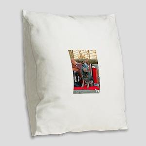 show girl pic copy Burlap Throw Pillow