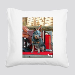 show girl pic copy Square Canvas Pillow