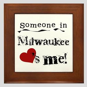 Milwaukee Loves Me Framed Tile