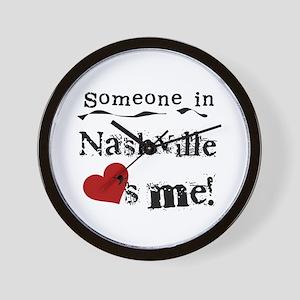 Nashville Loves Me Wall Clock