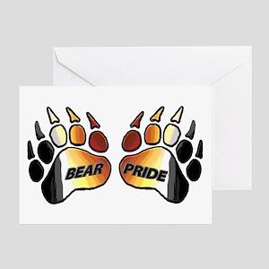 BEAR PRIDE BEAR PAWS/GRR Greeting Card
