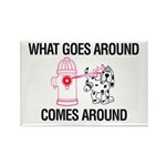 What Goes Around Rectangle Magnet